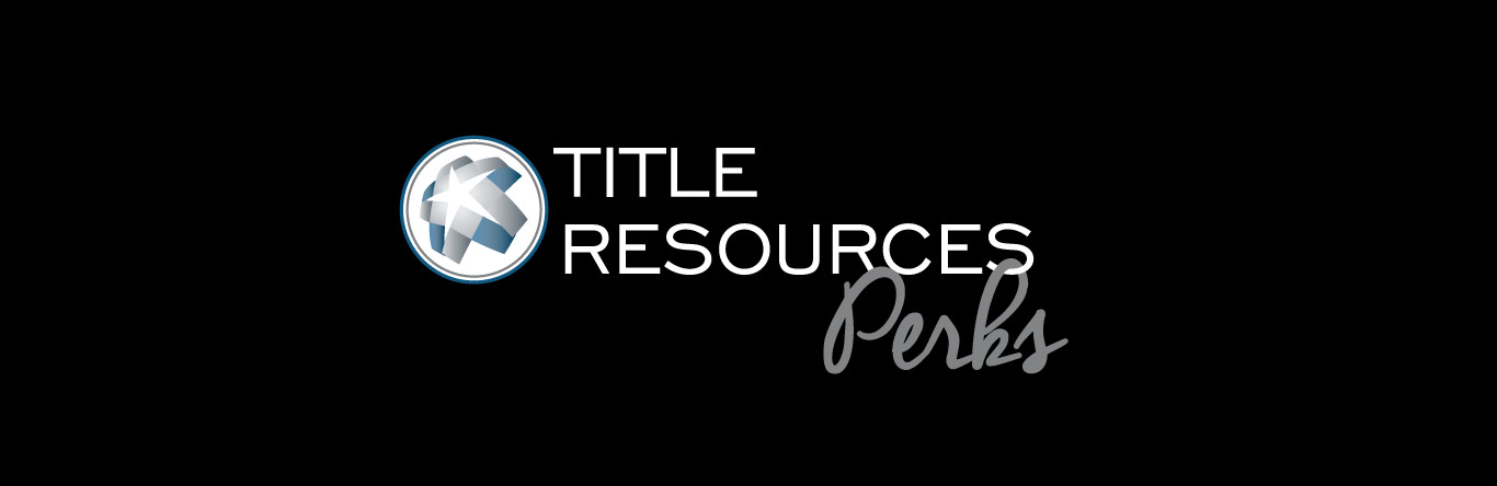 Title Resources Perks logo on black banner